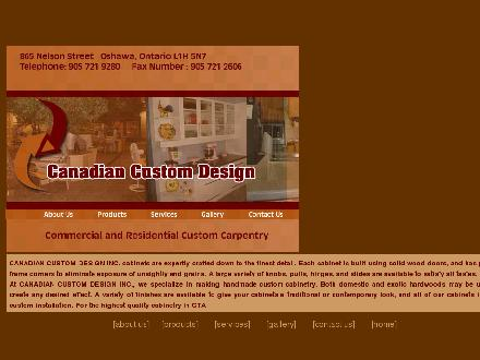 Canadian Custom Design (905-721-9280) - Onglet de site Web - http://www.canadiancustomdesign.com