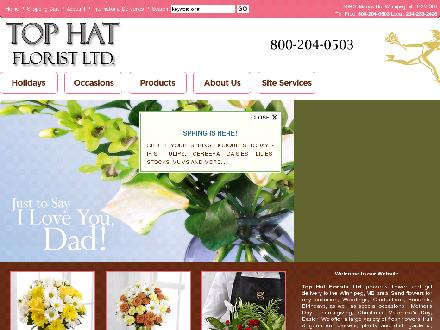 Top Hat Florists (204-233-2426) - Website thumbnail - http://www.tophatflorist.net