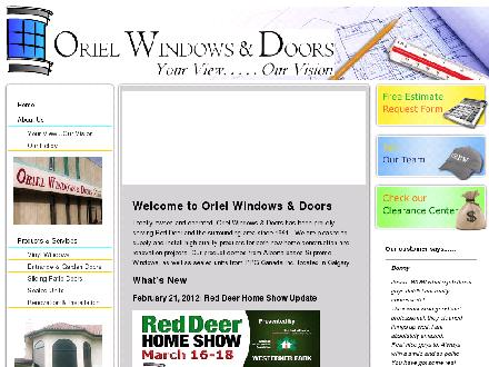 Oriel Windows & Doors (403-342-5530) - Onglet de site Web - http://www.orielwindows.ca
