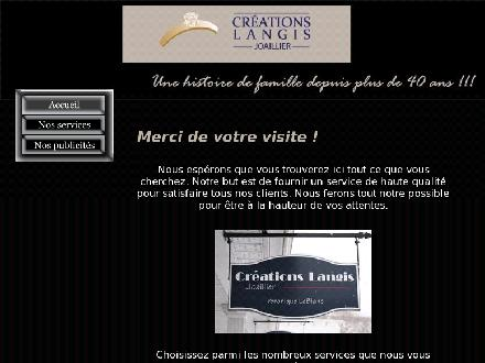 Cr&eacute;ations Langis Joallier (418-658-8266) - Onglet de site Web - http://www.creationslangis.net