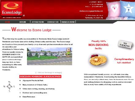 Econolodge Inn &amp; Suites (250-372-8533) - Onglet de site Web - http://www.pembrokeeconolodge.com