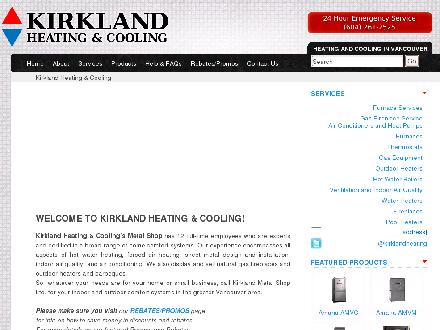 Kirkland Metal Shop Ltd (604-261-2525) - Website thumbnail - http://www.kirklandheating.com