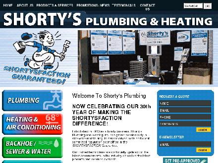 Shorty's Plumbing & Heating Inc (204-272-9726) - Onglet de site Web - http://www.shortysplumbing.ca