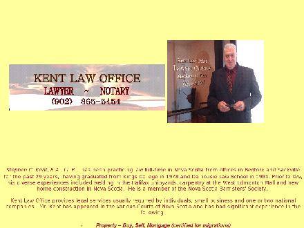 Kent Law Office (902-865-5454) - Onglet de site Web - http://www.stephenkent.ca