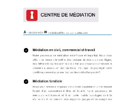 Centre de Médiation (450-368-4471) - Website thumbnail - http://www.mediation-francoisvaliquette.com