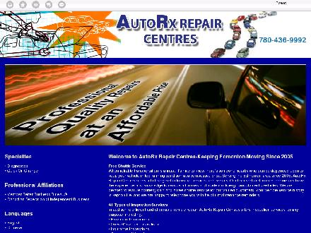AutoRx Repair Centres Ltd (780-436-9992) - Website thumbnail - http://autorx.ca/