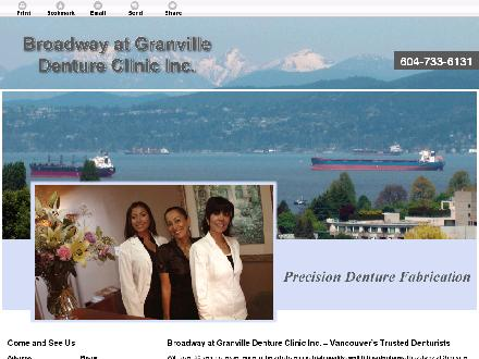 Granville At Broadway Denture Clinic (604-733-6131) - Website thumbnail - http://www.denturebroadway.ca