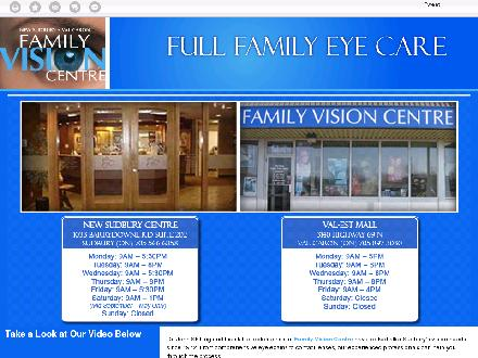 Family Vision Centre (705-566-6858) - Website thumbnail - http://sudburyvisioncentre.com/
