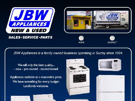 J B W Appliances (604-580-2323) - Website thumbnail - http://www.jbwappliances.ca