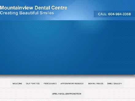 Mountainview Dental Centre (604-984-3368) - Onglet de site Web - http://www.mountainviewdental.ca