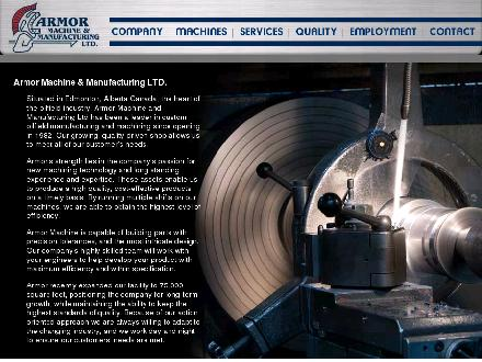 Armor Machine & Manufacturing Ltd (780-465-6152) - Onglet de site Web - http://www.armormachine.com
