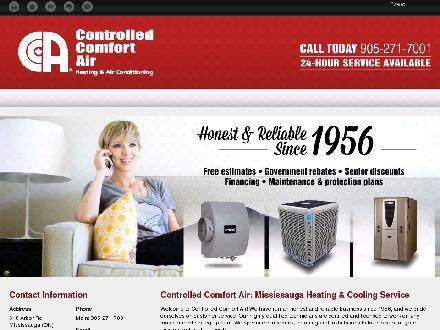 Controlled Comfort Air (416-233-3600) - Website thumbnail - http://controlled-comfort-air.com/