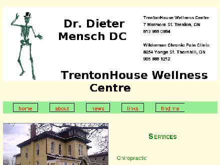 Trenton House Wellness Centre (613-965-0864) - Website thumbnail - http://www.drmensch.com