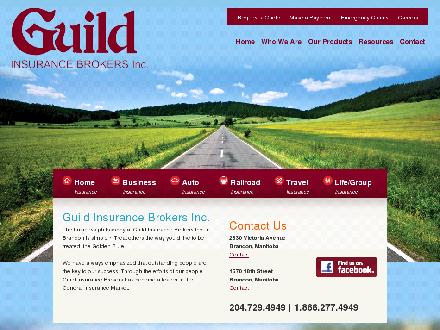 Guild Insurance Brokers Inc (204-729-4949) - Onglet de site Web - http://www.guildinsurance.ca