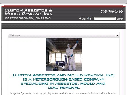 Custom Asbestos And Mould Removal (705-799-1499) - Website thumbnail - http://www.customasbestos.ca