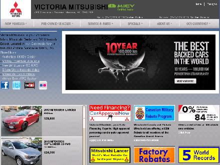Victoria Mitsubishi (250-419-0859) - Onglet de site Web - http://www.victoriamitsubishi.ca