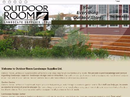 Outdoor Room Landscape Supplies Ltd (780-988-6555) - Onglet de site Web - http://outdoorroomlandscapedesignsolutions.com/