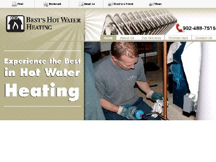 Best's Hot Water Heating (902-704-2978) - Onglet de site Web - http://bestshotwater.com