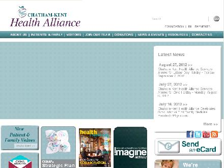 Chatham-Kent Health Alliance (519-352-6400) - Onglet de site Web - http://www.ckha.on.ca