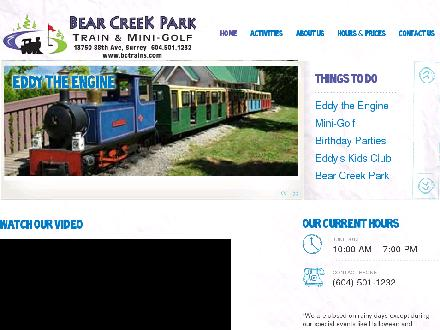 Bear Creek Park Train & Minigolf (604-501-1232) - Website thumbnail - http://www.bctrains.com