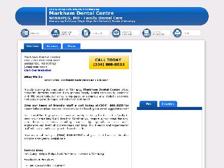 Markham Dental Centre (204-269-1144) - Website thumbnail - http://markhamdentalcentre.net/