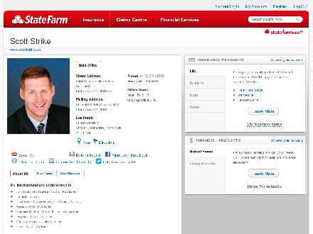 Strike, Scott - State Farm Insurance Agent (416-234-8000) - Website thumbnail - http://statefarm.mqgroup.com/url.asp?u=602003