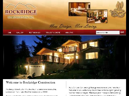 Rockridge Construction Inc (604-818-7955) - Onglet de site Web - http://www.rockridgeconstruction.ca