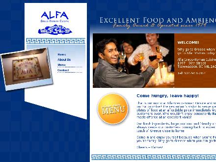 Alfa Greco Roman Cuisine (604-943-7471) - Website thumbnail - http://www.alfapizza.ca