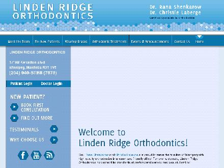 Linden Ridge Orthodontics (204-940-7878) - Website thumbnail - http://www.str8.ca