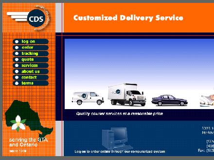 Customized Delivery Services (905-475-5908) - Onglet de site Web - http://www.cdsdelivery.ca