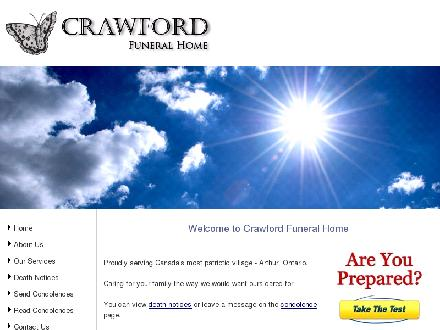 Crawford Funeral Home (519-848-6872) - Website thumbnail - http://www.crawfordfuneralhome.ca