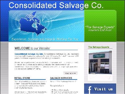 Consolidated Salvage Co Ltd (905-276-4230) - Onglet de site Web - http://www.consolidatedsalvage.com
