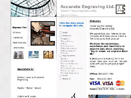 Accurate Engraving Ltd (905-602-1789) - Website thumbnail - http://www.accurate-engraving.com