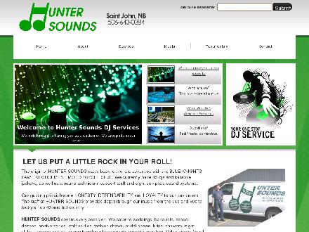 Hunter Sounds D J Services (506-643-0384) - Onglet de site Web - http://www.huntersoundsdjservices.ca