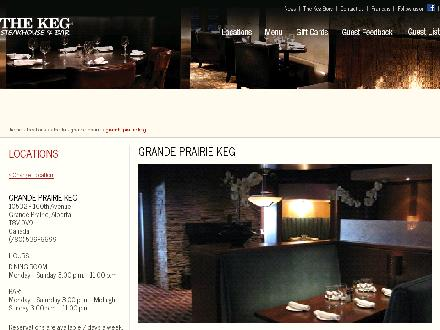The Keg Steakhouse &amp; Bar (403-327-2727) - Onglet de site Web - http://www.kegsteakhouse.com/en/locations/AB/grande-prairie/grande-prairie-keg/