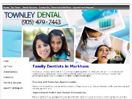 Townley Dental Office (905-479-7443) - Onglet de site Web - http://www.townleydental.com