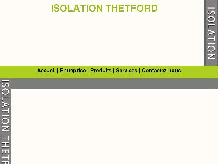 Isolation De Thetford Inc (1-866-338-6262) - Website thumbnail - http://www.isolationthetford.com