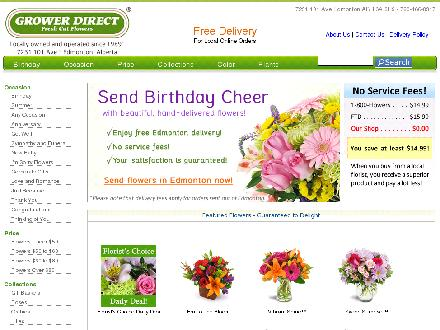 Grower Direct Fresh Cut Flowers (780-466-8317) - Onglet de site Web - http://www.edmontonsflorist.com
