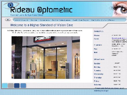 Rideau Optometric (613-567-0800) - Onglet de site Web - http://www.rideauoptometric.com