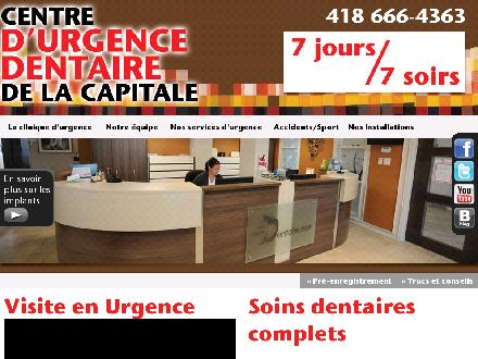 Centre d'Urgence Dentaire de la Capitale (418-666-4363) - Website thumbnail - http://www.urgencedentaireqc.ca