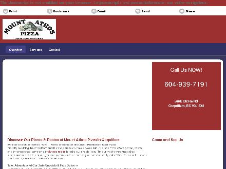 Mount Athos Pizza (604-939-7191) - Website thumbnail - http://mountathospizza.com/