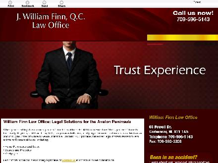 Finn J William (1-877-590-5123) - Website thumbnail - http://legalservicescbn.com/