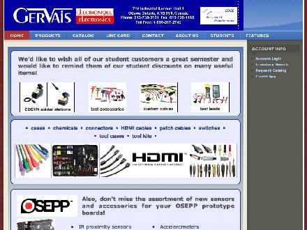 Gervais Electronics (613-738-3101) - Onglet de site Web - http://www.gervaiselectronics.ca