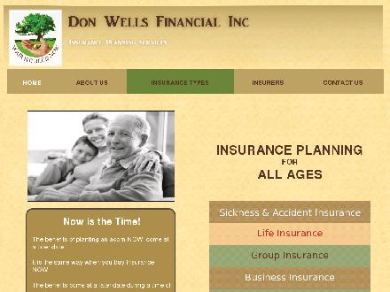 Don Wells Financial Inc (902-895-1598) - Onglet de site Web - http://www.donwells.ca