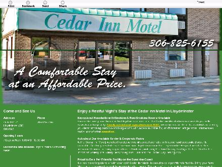 Cedar Inn Motel (306-825-6155) - Website thumbnail - http://cedarinn.ca