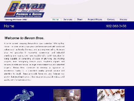 Bevan Bros LimitedPlumbing & Heating (902-368-3456) - Website thumbnail - http://www.bevanbros.com