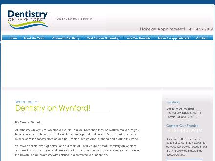 Dentistry on Wynford (647-497-6773) - Onglet de site Web - http://www.dentistryonwynford.com