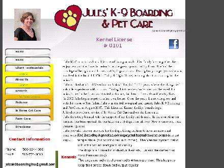 Jules' K-9 Boarding (506-624-4006) - Onglet de site Web - http://www.julesk9boarding.com