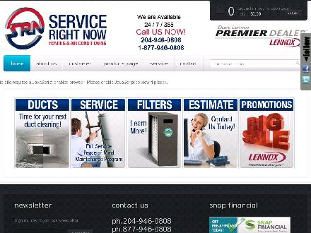 Service Right Now Ltd (204-809-0372) - Onglet de site Web - http://www.servicerightnow.ca