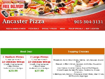 Ancaster Pizza (905-304-3131) - Onglet de site Web - http://www.ancaster-pizza.com